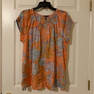Short sleeve floral blouse XL